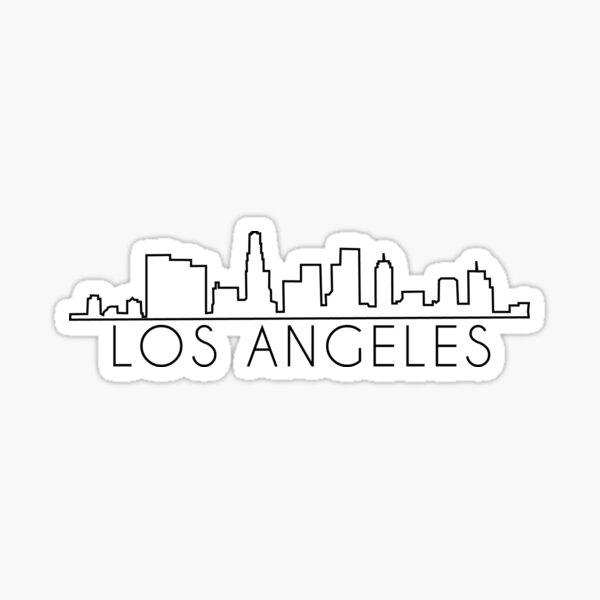 Los Ángeles Skyline Pegatina