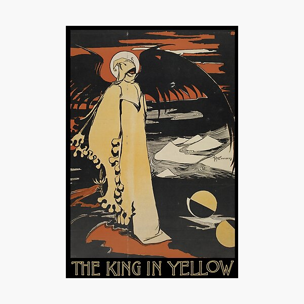 Robert W. Chambers' The King In Yellow Photographic Print