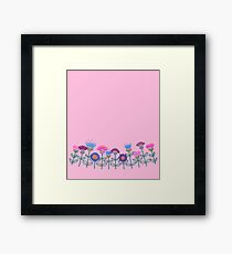 retro flower border  Framed Print