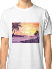 Sunset in the tropics Classic T-Shirt
