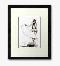 Midori Dusk - Swan Jovi Framed Print