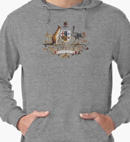 Aussie Coat of Arms Lightweight Hoodie