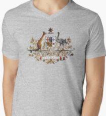 Aussie Coat of Arms Men's V-Neck T-Shirt