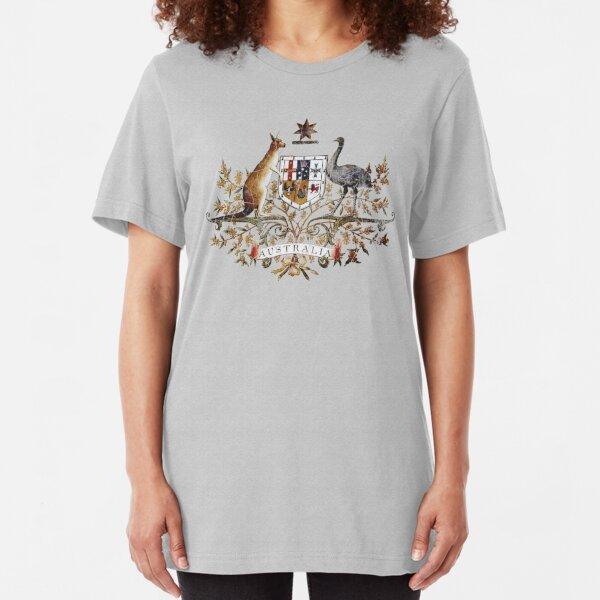 Aussie Coat of Arms Slim Fit T-Shirt