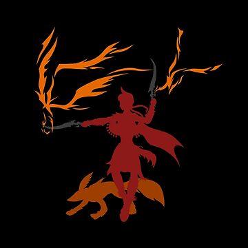 The Fiery Sword Fighter by drakenwrath
