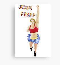 Jessie Graff American Ninja Warrior Canvas Print