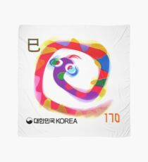 2000 Korea Year of the Snake Postage Stamp Scarf