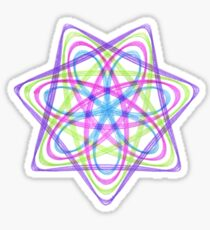 7 pointed spirograph 1 Sticker