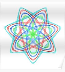7 pointed spirograph 2 Poster