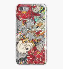 Koi dragon with koi fish iPhone Case/Skin