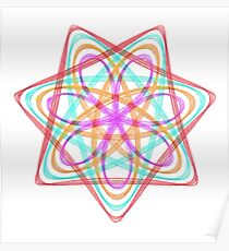 7 pointed spirograph 3 Poster