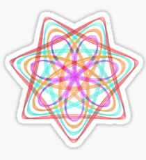 7 pointed spirograph 3 Sticker