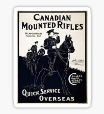 Vintage poster - Canadian Mounted Rifles Sticker