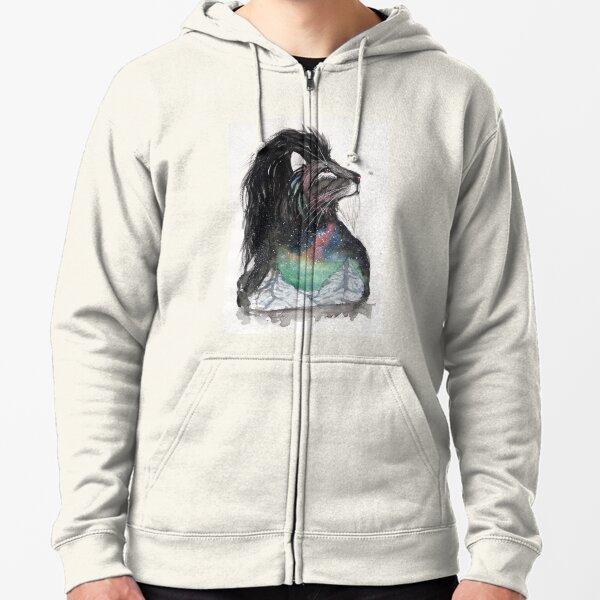 Realis the Aurora Lion. Zipped Hoodie
