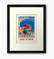 Lámina enmarcada 1947 Cote d'Azur Costa Azul Vintage World Travel Poster