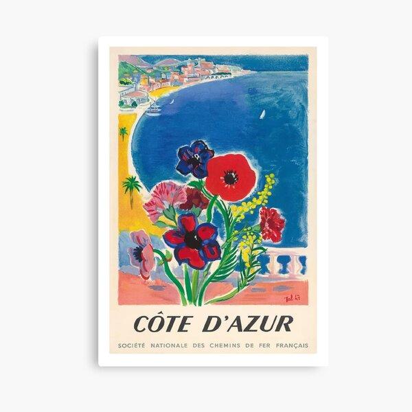 1947 Côte d'Azur Côte d'Azur Vintage World Travel Poster Impression sur toile