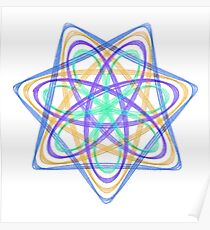 7 pointed spirograph 4 Poster