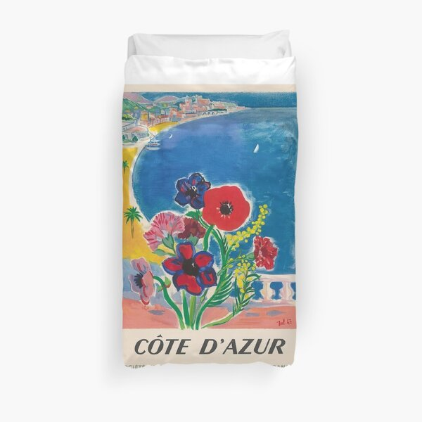 1947 Cote d'Azur Costa Azul Vintage World Travel Poster Funda nórdica