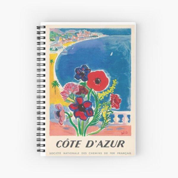 Jahrgang 1947 Cote d'Azur Französisch Riviera Vintage World Travel Poster Spiralblock