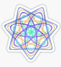 7 pointed spirograph 4 Sticker