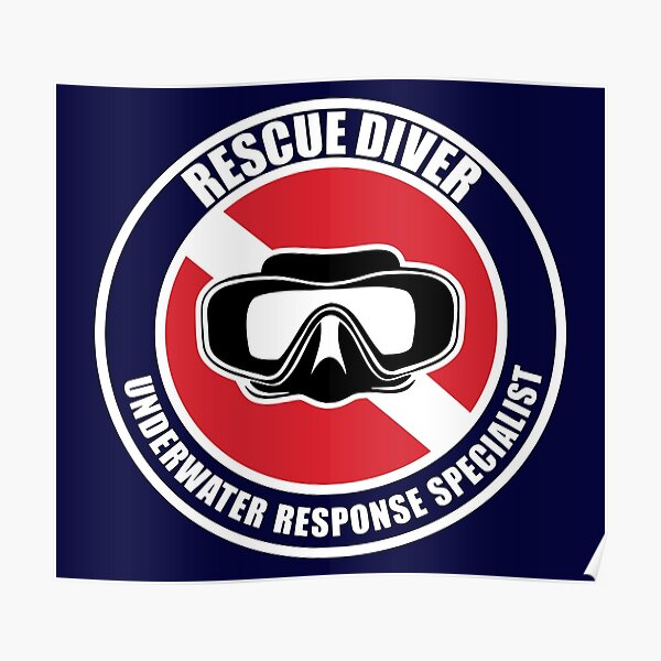 Rescue Diver Gift Poster