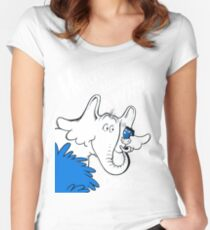 Horton Hears Doctor Who! Women's Fitted Scoop T-Shirt