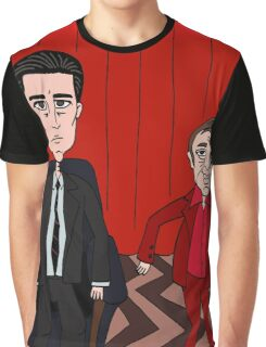 Dale Cooper in the Red Room with the Dancing Little Man Graphic T-Shirt