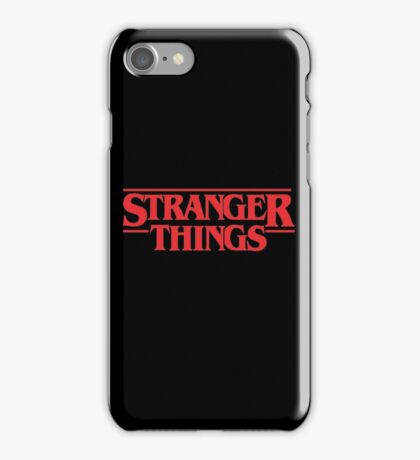 Stranger Things Merchandise iPhone Case/Skin