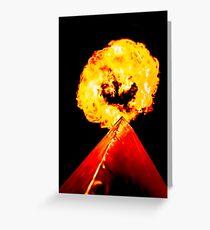 Phoenix Flame Tower Greeting Card