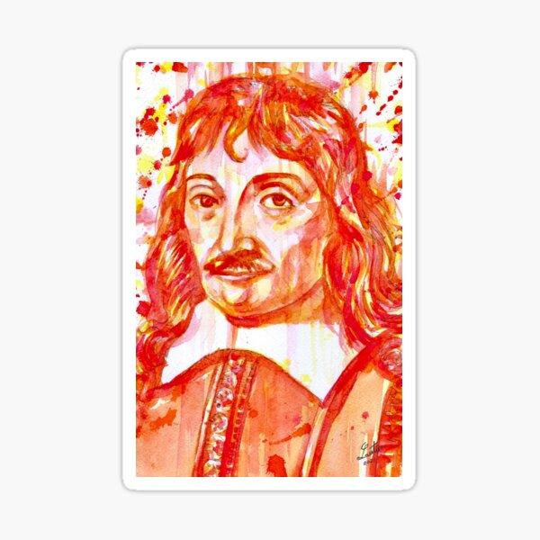 DESCARTES -watercolor portrait .2 Sticker
