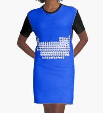 Cat Periodic Table Graphic T-Shirt Dress