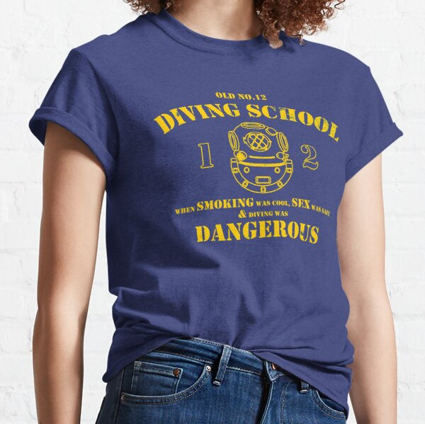 Funny Commercial Diver - Old No.12 Diving School (Distressed) Classic T-Shirt
