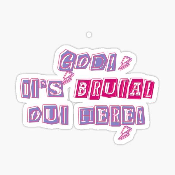 SOUR - Brutal lyrics (Olivia Rodrigo) Sticker
