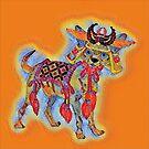 Samurai Chihuahua Mosaic by redqueenself