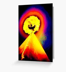 Phoenix Flame Rainbow Greeting Card