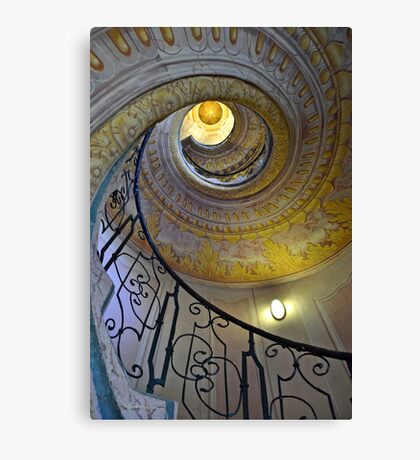 Looking upwards on the staircase  Canvas Print