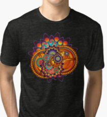 Colorful Trippy Funky Abstract Jazz Pattern Tri-blend T-Shirt