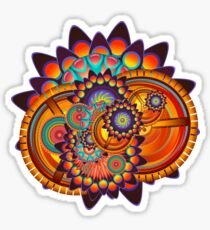 Colorful Trippy Funky Abstract Jazz Pattern Sticker