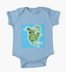 Northern America Animal Map Green Kids Clothes