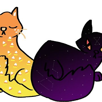 Double Trouble Halloween Cats! by irishowl