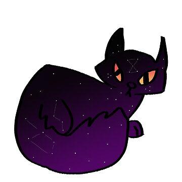 Space cat  by irishowl