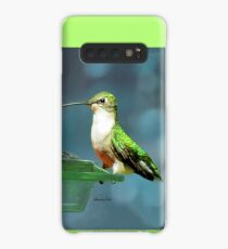 Tiny Backyard Visitor ~ Hummingbird Case/Skin for Samsung Galaxy