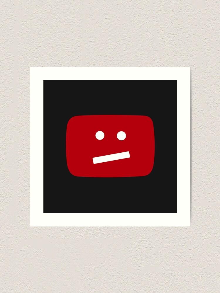 Alternate view of YouTube :/ Face Logo Art Print