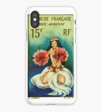 Vintage 1964 Tahitian Dancer Postage Stamp iPhone Case/Skin