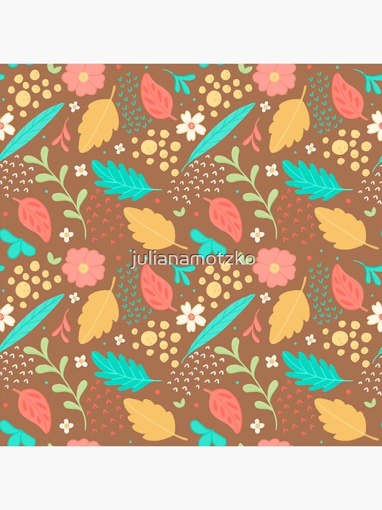 Sweet Flowers and Leaves Pattern by julianamotzko