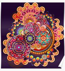 Funky Art Pattern Poster