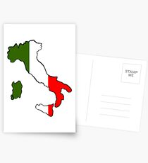 Map of Italy Postcards