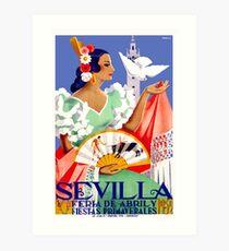 1952 Sevilla Spanien April Fair Poster Kunstdruck