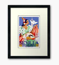 1952 Sevilla Spanien April Fair Poster Gerahmtes Wandbild