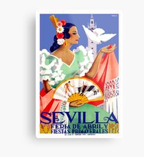 1952 Seville Spain April Fair Poster Metal Print